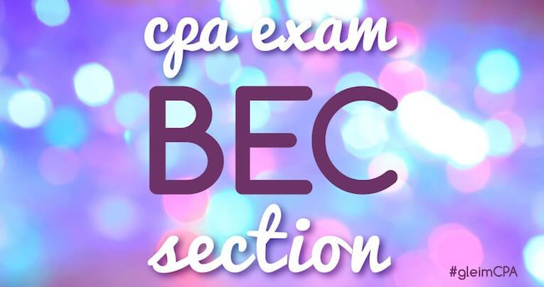 BEC CPA Exam Section